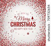 christmas 2017 and new year... | Shutterstock .eps vector #709732654