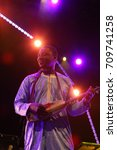 Small photo of NEW YORK CITY - AUGUST 12 2017: BRIC sponsored its annual summer Celebrate Brooklyn concert series in Prospect Park. Malian kara player Yacoub Sissoko
