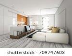 3d rendering scandinavian... | Shutterstock . vector #709747603