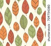 beautiful seamless doodle...   Shutterstock .eps vector #709754380