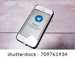kazan russia 07.08.2016  iphone ... | Shutterstock . vector #709761934