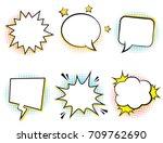 retro comic empty speech... | Shutterstock .eps vector #709762690