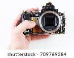 repair broken digital slr...   Shutterstock . vector #709769284