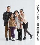 family portrait of young asian... | Shutterstock . vector #709772908