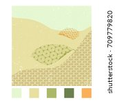 japanese pattern vector with... | Shutterstock .eps vector #709779820
