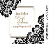 vintage delicate invitation... | Shutterstock .eps vector #709785844