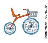 cute tricycle isolated icon | Shutterstock .eps vector #709789804