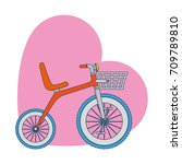 cute tricycle with heart | Shutterstock .eps vector #709789810