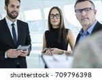 professional team leaders... | Shutterstock . vector #709796398