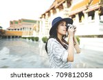 photograph camera casual... | Shutterstock . vector #709812058