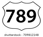 us 789 highway sign | Shutterstock .eps vector #709812148