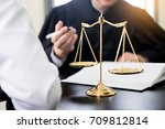 business people and lawyers... | Shutterstock . vector #709812814