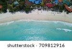 paradise beach | Shutterstock . vector #709812916