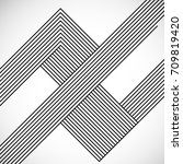 abstract hipster lines... | Shutterstock .eps vector #709819420