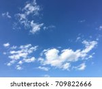 beautiful clouds with blue sky... | Shutterstock . vector #709822666