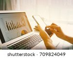 financial planning concept.... | Shutterstock . vector #709824049