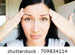 a thirty year old woman with... | Shutterstock . vector #709834114