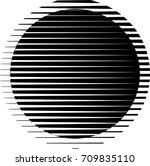 circle logo with lines.unusual... | Shutterstock .eps vector #709835110