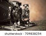 old camera   Shutterstock . vector #709838254