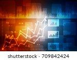 2d rendering stock market... | Shutterstock . vector #709842424