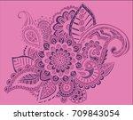 flower pattern bright abstract... | Shutterstock .eps vector #709843054