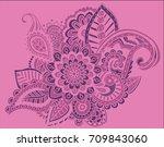 flower pattern bright abstract... | Shutterstock . vector #709843060