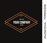 vintage logo design templates... | Shutterstock .eps vector #709844308