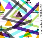 seamless pattern geometric... | Shutterstock .eps vector #709844350