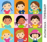 vector illustration set of... | Shutterstock .eps vector #709846609
