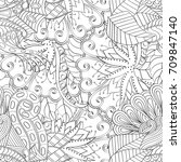 tracery seamless pattern.... | Shutterstock .eps vector #709847140