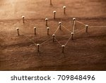 creation or forming of networks.... | Shutterstock . vector #709848496