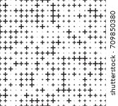 seamless pattern with black... | Shutterstock .eps vector #709850380