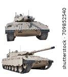 israeli battle tank merkava mk2. | Shutterstock . vector #709852540