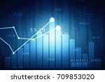 2d rendering stock market... | Shutterstock . vector #709853020