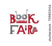 lettering logo for book fair | Shutterstock .eps vector #709853416