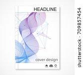 scientific brochure design... | Shutterstock .eps vector #709857454