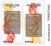 leaflet flyer layout. magazine... | Shutterstock .eps vector #709857460