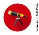 telescope icon in flat style... | Shutterstock .eps vector #709859014