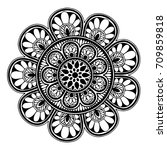 mandalas for coloring book.... | Shutterstock .eps vector #709859818