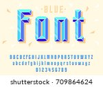 stylish stylized blue font and... | Shutterstock .eps vector #709864624