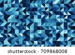 dark blue vector triangle... | Shutterstock .eps vector #709868008