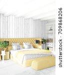 modern loft interior bedroom or ...   Shutterstock . vector #709868206