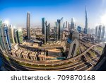 cityscape of dubai with modern... | Shutterstock . vector #709870168