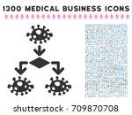 epidemic growth scheme grey...   Shutterstock .eps vector #709870708