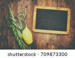 jewish festival of sukkot.... | Shutterstock . vector #709873300