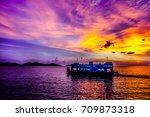 colorful sky cloud | Shutterstock . vector #709873318