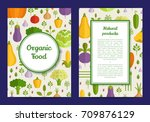 vector handdrawn fruits and... | Shutterstock .eps vector #709876129