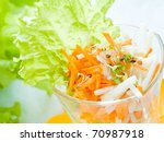 fresh vegetables salad with sprouts - stock photo