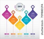 business presentation concept... | Shutterstock .eps vector #709880194
