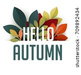 Hello Autumn Poster With...